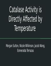 Enzyme Action_ Testing Catalase Activity