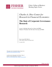 04-Bebchuk and Weisbach.2009.The State of Corporate Governance Research-SSRN-id1508146