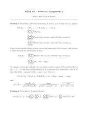 STATS 353 HOMEWORK 5 SOLUTIONS