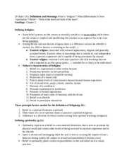 Religion and psychology notes sept.29 and oct.1 chapter 2