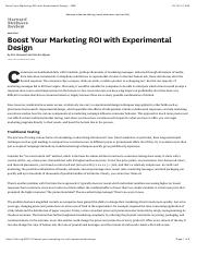 Reading4 Boost Your Marketing ROI with Experimental Design - HBR.pdf