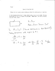 Quiz 8 Solution on Elementary Calculus