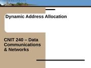 Lecture09 - Dynamic Address Allocation(1)
