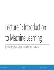 01-Lecture 1 - Introduction of Machine Learning.pdf
