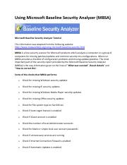 Microsoft_Baseline_Security_Analyzer_Tutorial_Handout