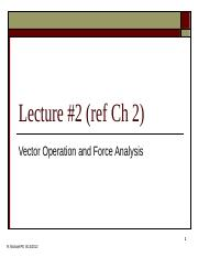 2-Vector Operation and Force Analysis.ppt