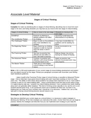 hum 111 week 1 assignment stages of critical thinking