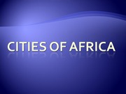 URS1006 Lecture 8 Cities of Africa