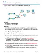6.4.3.4 Packet Tracer - Configuring a Floating Static Route Instructions.docx