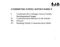 Comm 2014F Week 11 (Communicating with Family)