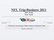 business nfl trip...PP slides