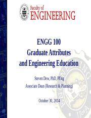 ENGG 100 2014 - Graduate Attributes