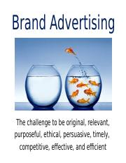 Class Notes D Brand Adverising.ppt