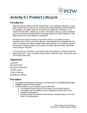 9.1.A_ProductLifecycleRecycle