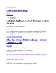 ACC 303 Mid term ans