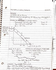 The math of supply and demand notes