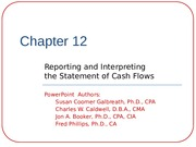 Chapter 12-Statement of Cash Flow