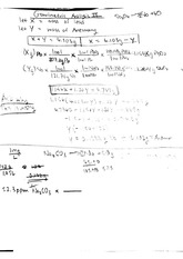 CHEM 122 Fall 2014 Gravimetric Analysis II Examples