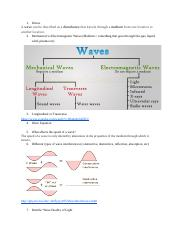 Physics Waves Notes