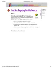 Multiple Intelligences -- nature