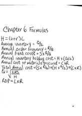 OPM Chapter 6 Formulas
