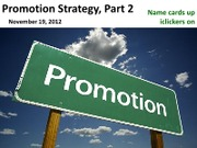 #18 Promotion Strategy part2