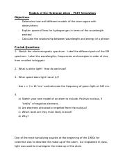 2.2 - Atomic Structure - PHET ACTIVITY - Evaluate Atomic models .docx