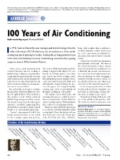 Air Conditioning 100 years