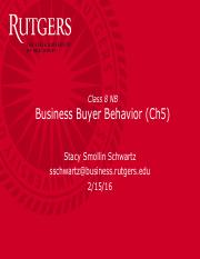 Class 8 -Ch5 - Business Buyer Behavior - for posting