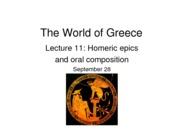 Lecture 11_Homeric Epics