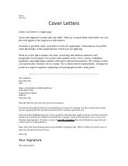 Cover Letters.doc