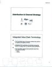 Classs Note Distribution and Channel Strategy