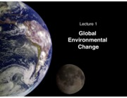 W1 L1 - global environmental change