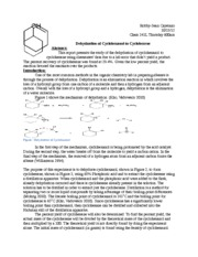 dehydrating cyclohexanol lab report The objective of this exercise is to prepare cyclohexene from cyclohexanol and   in this experiment an alkene (cyclohexene) will be prepared by dehydration of.