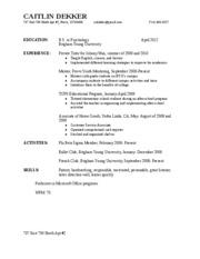 cover letter and resume caitlin dekker 737 east 700