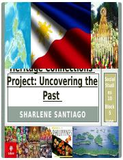 Heritage Connections Project - Sharlene Santiago.pptx