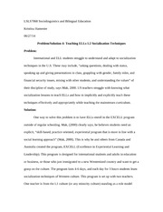 4-Teaching ELLs L2 Socialization Techniques