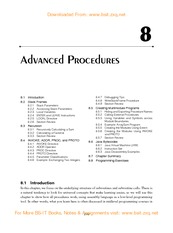 8--Advanced Procedures