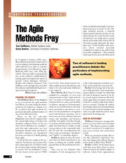 The Agile Methods Fray