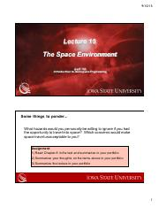 AerE 160- Space Environment Lecture