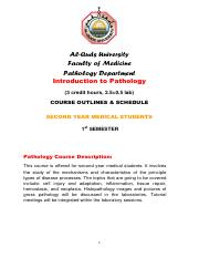 introduction to pathology course outline