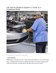 VW+and+Its+Workers+Explore+a+Union+at+a+Tennessee+Plant.docx