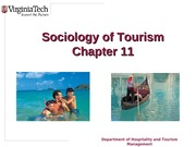 Chapter 11 Sociology of Tourism