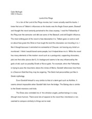 Lord of the Rings Critique