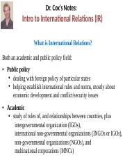Ch.+1+Intro+to+International+Relations