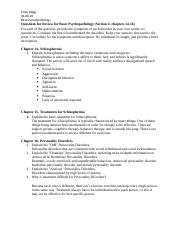 Questions for Review for Basic Psychopathology  SECTION 4 (Chapters 14-16).docx