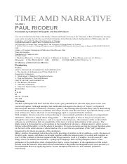 Paul Ricoeur - Time And Narrative (The University of Chicago Press, 1984, 433 pp).pdf