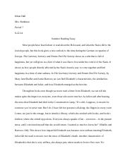 ethan hall summer reading essay