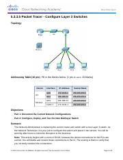 5.3.3.5 Packet Tracer - Lab 3