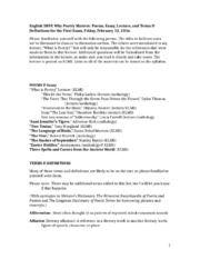 English 289P Poems & Terms First Exam -2.docx